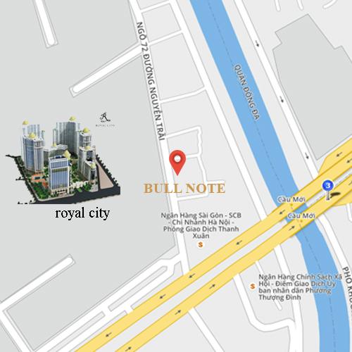 Bản đồ hướng dẫn đường tới cửa hàng sổ da bullnote