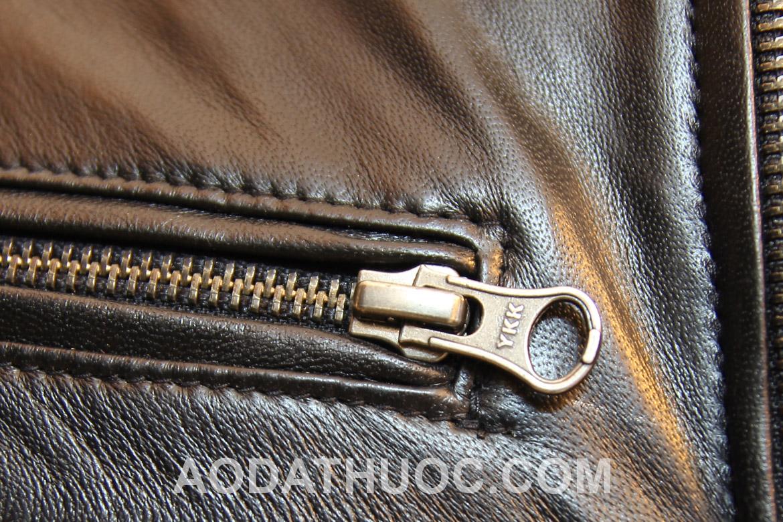 Nhận biết áo da thật qua các lỗ trân lông