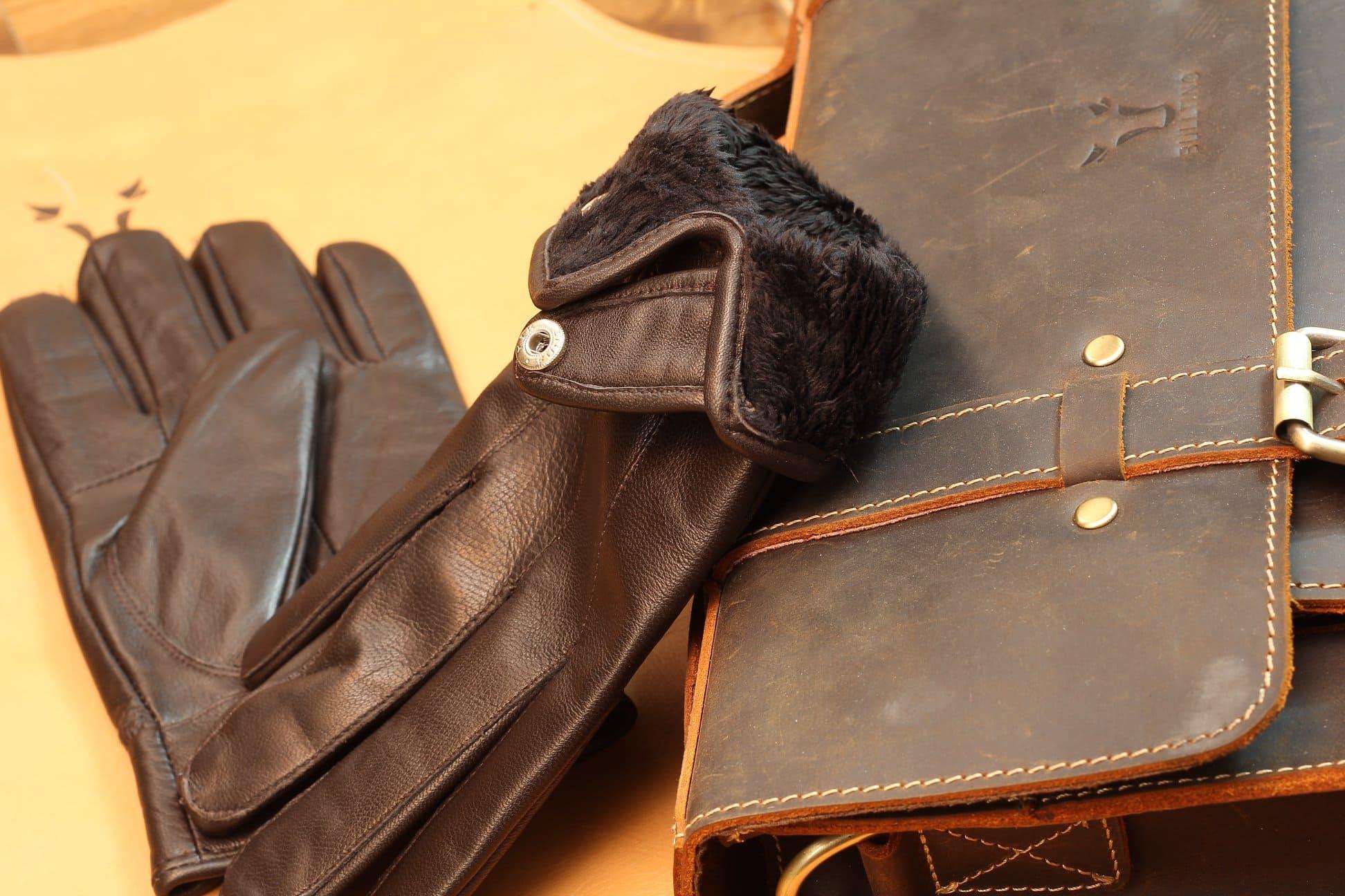 Găng tay da cừu xịn lót lông