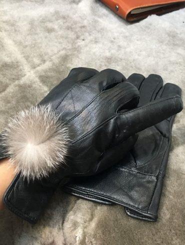 Găng tay nữ da thật